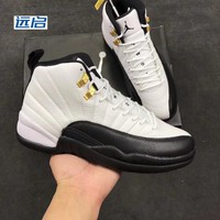 Authentic Air Jordan 12 (XII) Original (OG) Taxi ( White / Black )