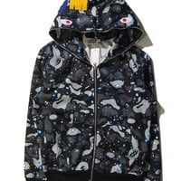 ONETOW Bape Winter Casual Hoodies Unisex Jacket