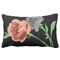 Black Pillow Design With Beautiful Flowers