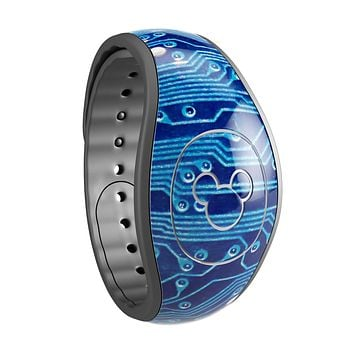 Blue Circuit Board V2 - Decal Skin Wrap Kit for the Disney Magic Band