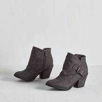 DTLA it on Me Booties in Grey by ModCloth