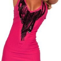 Sleeveless V Neck Cross Strap Sequin Fitted Evening Clubwear Party Dress S M L