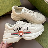 GUCCI Star print couple daddy shoes-11
