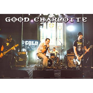 """Good Charlotte Band on Stage Poster (24""""x34"""")"""