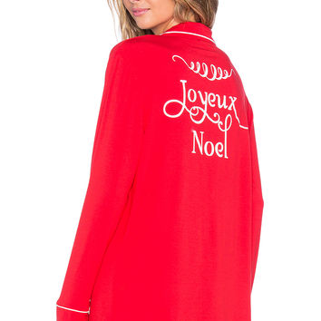 Wildfox Couture Joyeux Noel Sleep Shirt in Red