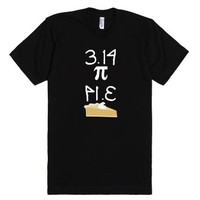 Pi And Pie-Unisex Black T-Shirt