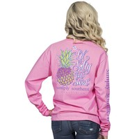 "Simply Southern ""Salty"" Pineapple Long Sleeve Tee Shirt"