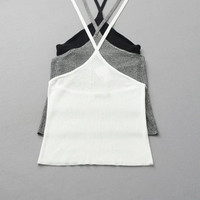 2016 Trending Fashion Women Backless Halter Neck Sexy Spagehetti Strap Sleeveless Strappy Top Top Women Tank Vest _ 9777