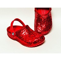 Starlight Sequin Red Cayman Slip On Clogs