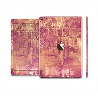 The Pink Paint Splattered Brick Wall Skin Set for the Apple iPad Air 2