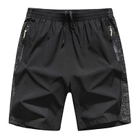 Mens Clothing Summer Large Size Shorts Quick Dry Breathable Breeches Bermuda Male Zip Pocket  Men Summer Shorts