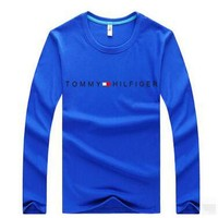 TOMMY  Casual Long Sleeve Top Sweater Pullover