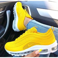 NIKE Air Max 97 stylish neutral retro bullet full Air cushion running shoes
