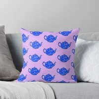 'Time for tea' Throw Pillow by Sarah Davies