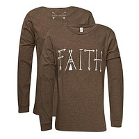 Southern Couture Lightheart Faith Front Print Triblend Long Sleeve T-Shirt