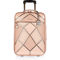 Pink patchwork suitcase - make up bags / luggage - bags / purses - women