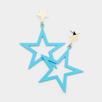 Double Star Dangle Earrings