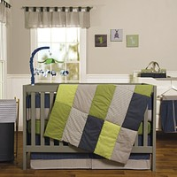 Baby Bed  - Perfectly Preppy 3 Piece Crib Bed Set