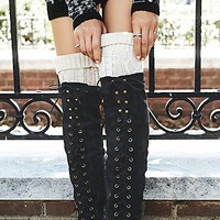 Free People Womens Capsule Cable Over-the-Knee Sock