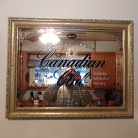 1858 limited Edition Canadian Club Whiskey bar mirror original and authentic, gift for him, man cave gift, home décor