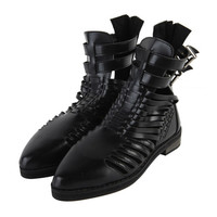 Double Ankle Buckled Shoes