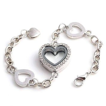 Story of My Life Heart Shaped Charm Locket Bracelet For Woman - Four Colors to Choose!
