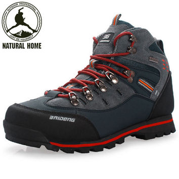 NaturalHome Brand Mountain Climbing Mens Shoes Boots Athletic Shoes Botas Men Trekking Outdoor Sport Hiking Shoes Boot