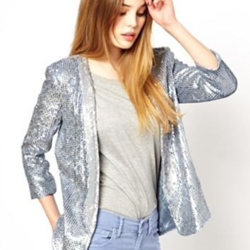 French Connection Sequin Blazer