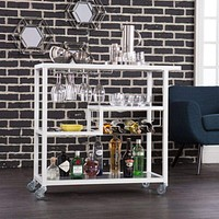 Holly & Martin Zephs Bar Cart - White