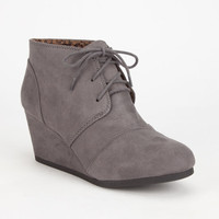City Classified Rex Womens Wedges Dark Grey  In Sizes