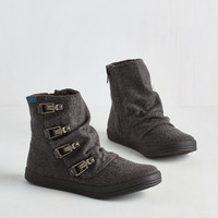 Urban Hustle and Buckle Bootie in Charcoal