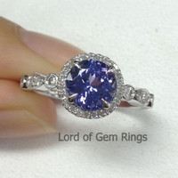 Reserved for ali45400, 7mm Round Moissanite Engageent Ring