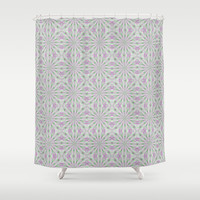 Rosettes in Purple and Green Shower Curtain by Lena Photo Art