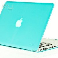 """Kuzy - Coral Blue 13inch Rubberized Satin Hard Case Cover for MacBook Pro 13.3"""" (A1278 with or without Thunderbolt) Aluminum Unibody"""