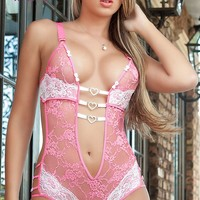 Sexy Lace Teddy Lingerie