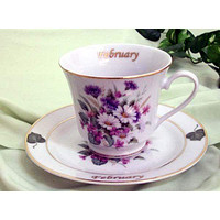 Flower of the Month Teacup - February