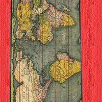 Personalized iPhone 4 case iPhone 4s case - Antique World Map  Photo -plastic Iphone cover iphone 4s cover