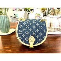LV 2019 new female models wild denim canvas shoulder bag Messenger bag
