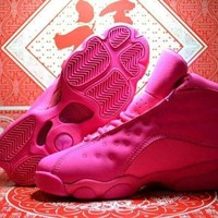 Air Jordan 13 Retro Pink Women Basketball Shoe