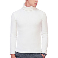 Turtle-Neck Pullover Man Cable Knit Sweater