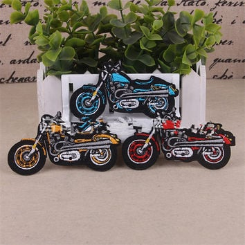 Motorcycle Patches Bicycle Iron On Patches For Clothes Stickers Embroidered Patch Jacket Applique Badge Fabric Sewing Accessory