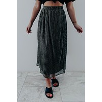 Gone Forever Skirt: Black/Gold