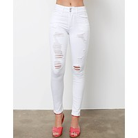 My Favorite White Skinny Jeans