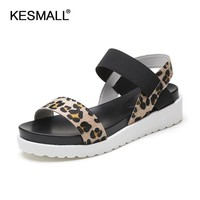 Women Summer Platform Sandals With Elastic Closure