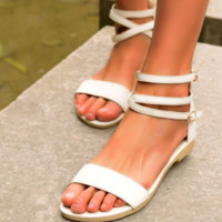 New comfy flat open-toed zipper sandals for women
