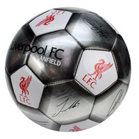 Liverpool FC  - Silver Size 5 Ball With Team Signatures
