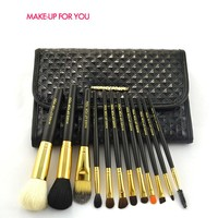 Professional Gorgeous 12 Pcs Makeup Brushes Goat Hair Make Up Brushes Set Pincel Maquiagem High Quality Pinceaux Maquillage