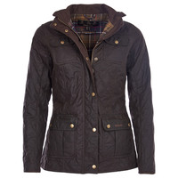 BARBOUR QUILTED UTILITY WAXED JACKET