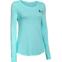 Under Armour Women's Stripe Wordmark Long Sleeve Shirt
