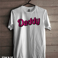 Daddy T Shirt, Little Girl DDLG Kylie Jenner T-shirt Pink Neon Text, Unisex Tee Shirt 100% Cotton Tumblr Outfit Back to School TShirt